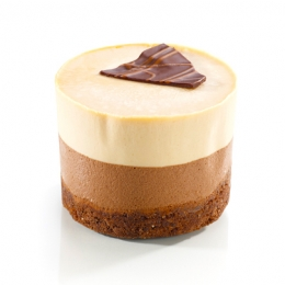 Chocolate-caramel duo cake 100g